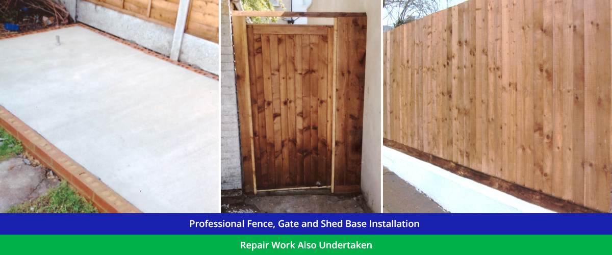 Garden Fence, Gate and shed base Specialists across North London, Essex and Hertfordshire